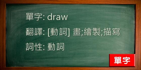 過去 分詞 draw